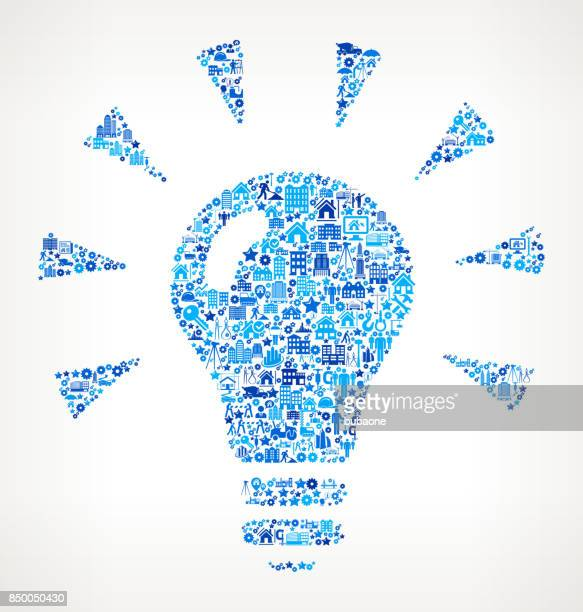 Lightbulb  Construction Industry Vector Icon Pattern