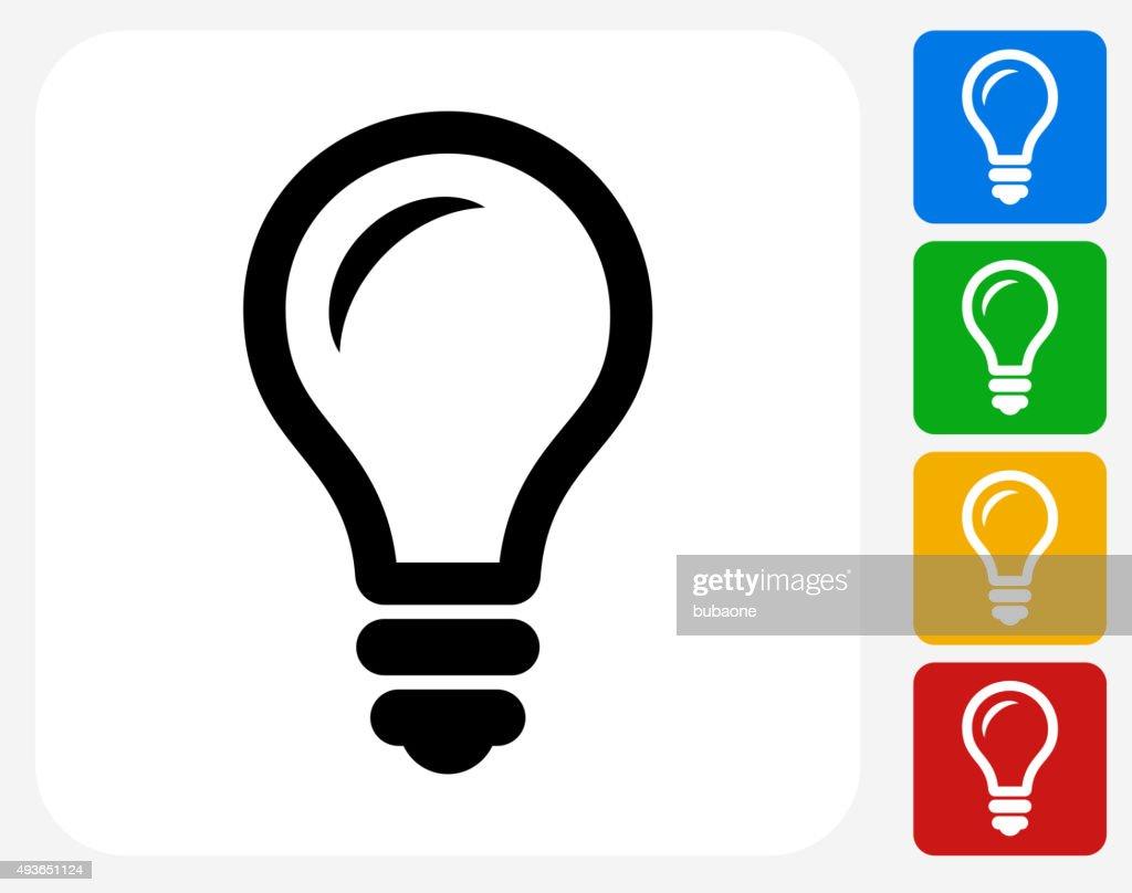 Lightbulb Icon Flat Graphic Design