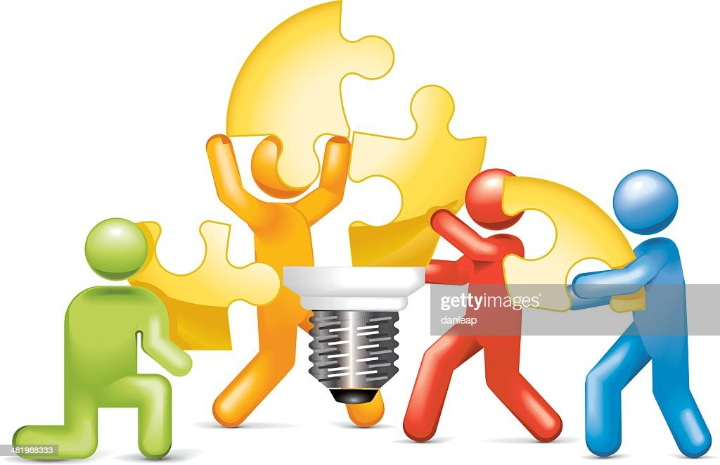 Lightbulb Jigsaw Team