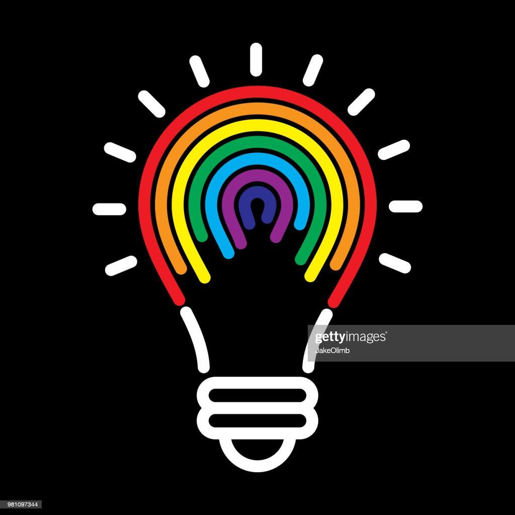 Lightbulb Rainbow : stock illustration