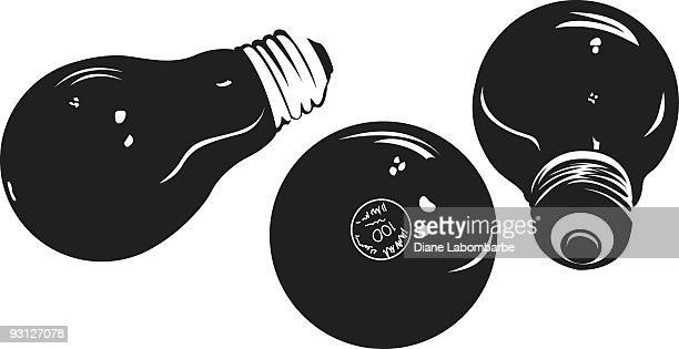 lightbulb シルエット - clip art点のイラスト素材/クリップアート素材/マンガ素材/アイコン素材