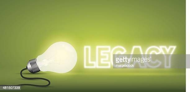 lightbulb word legacy - legacy stock illustrations, clip art, cartoons, & icons