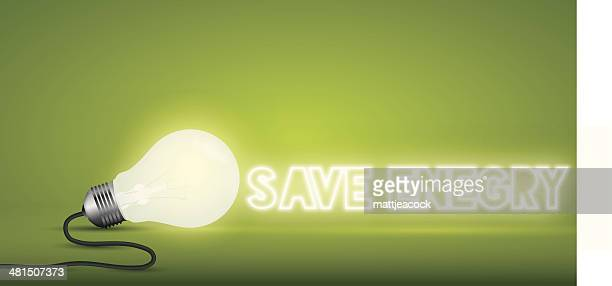 lightbulb word save energy - salvation stock illustrations, clip art, cartoons, & icons