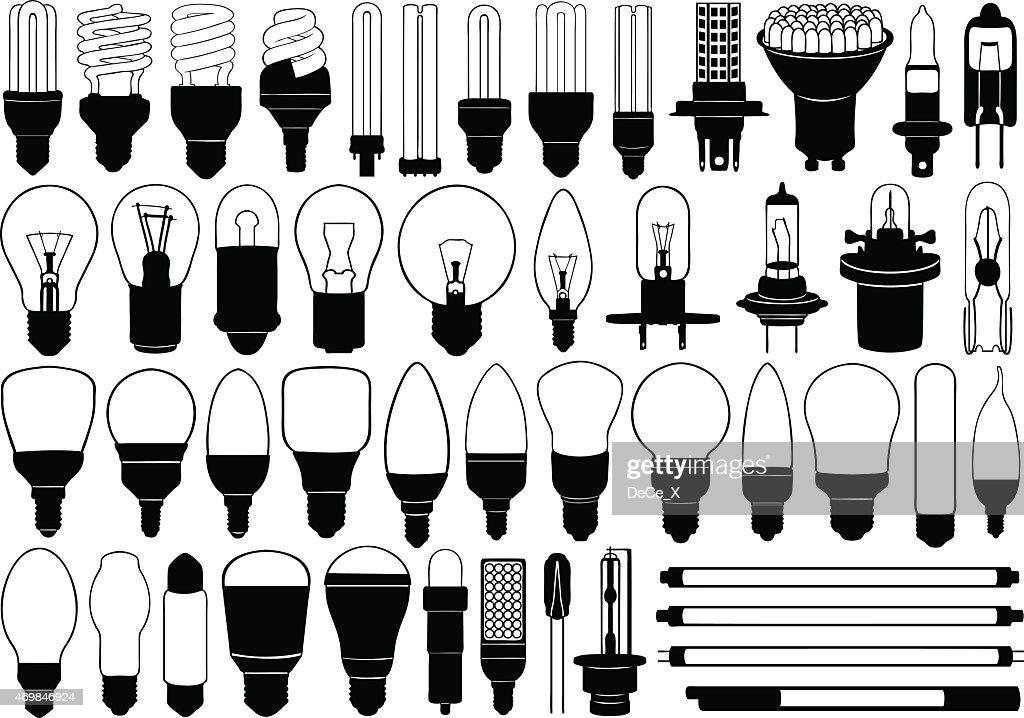Lightbulbs are shining so bright
