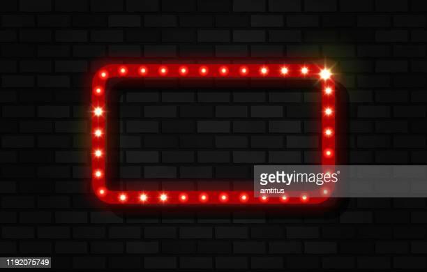 ライト付きバナー長方形 - 映画のポスター点のイラスト素材/クリップアート素材/マンガ素材/アイコン素材