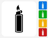 Lighter Icon Flat Graphic Design
