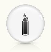 Lighter icon on white round vector button