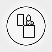 Lighter. Universal Icon. Vector. Editable Thin line.
