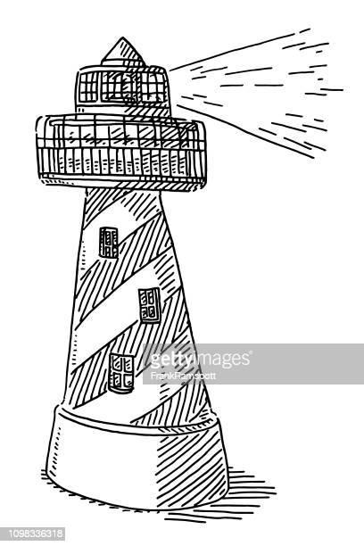 Leuchtturm bauen Symbol Zeichnung