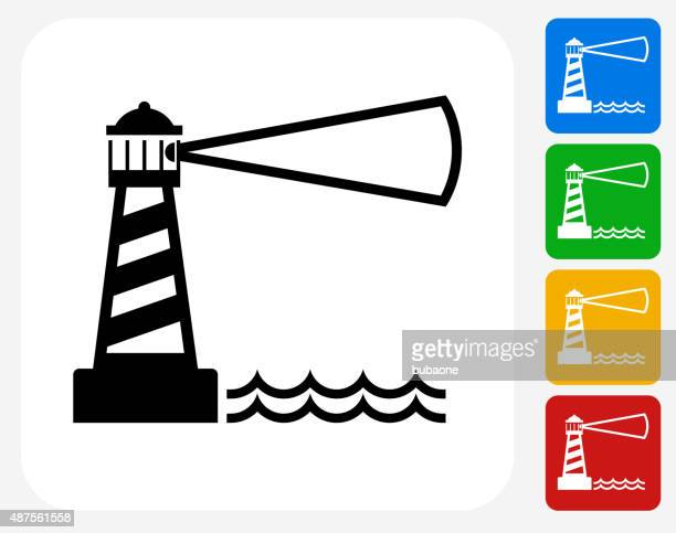 Lighthouse Icon Flat Graphic Design