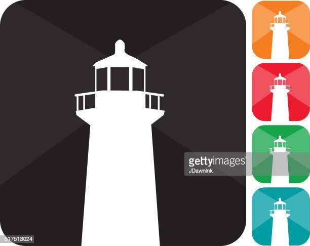 Lighthouse icon set  in multiple colors