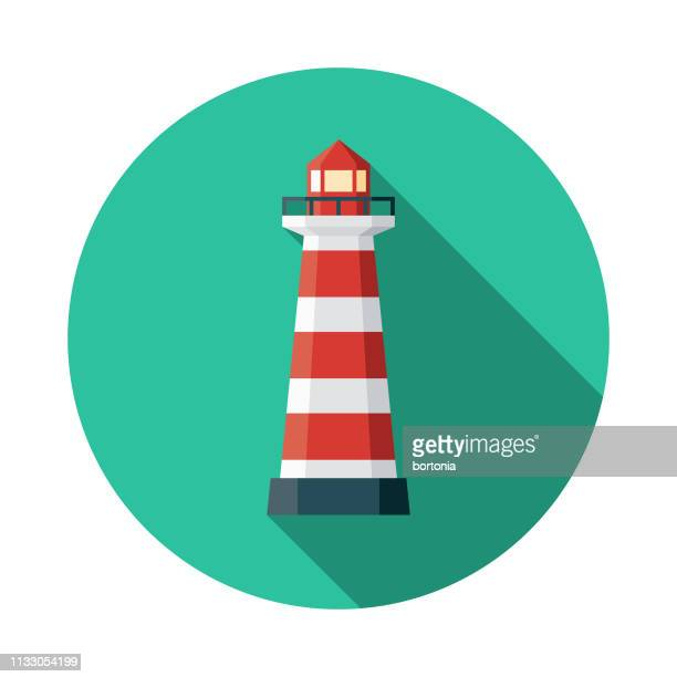 lighthouse of praia da barra portugal icon - lighthouse stock illustrations