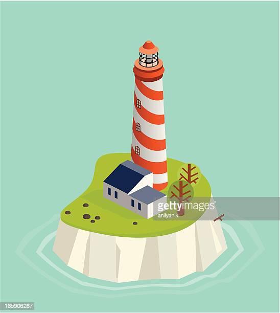 illustrations, cliparts, dessins animés et icônes de phare - île
