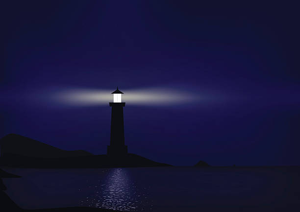 Free lighthouse at night Images, Pictures, and Royalty ...