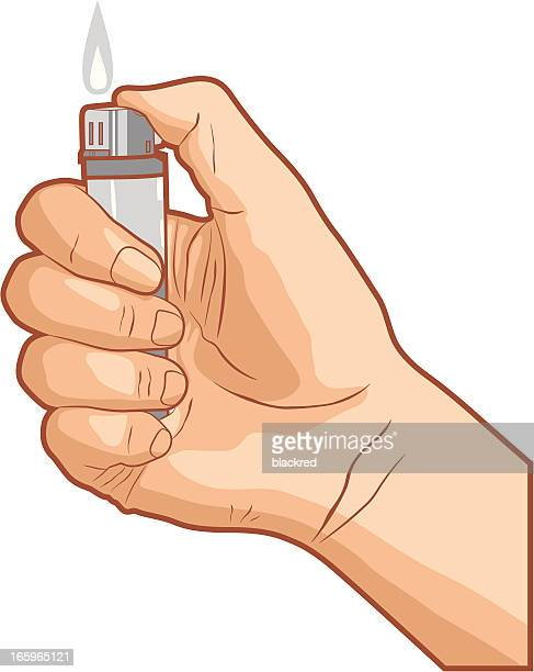 lighting lighter - cigarette lighter stock illustrations