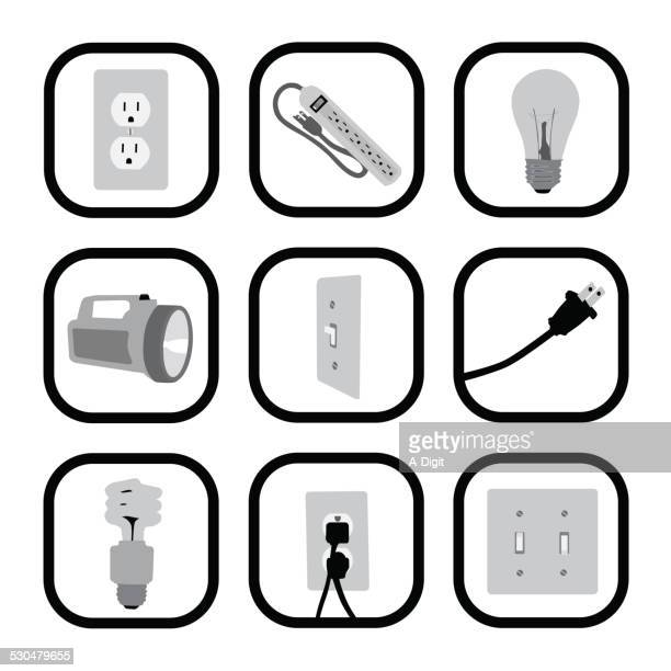 lightingetc - electric plug stock illustrations