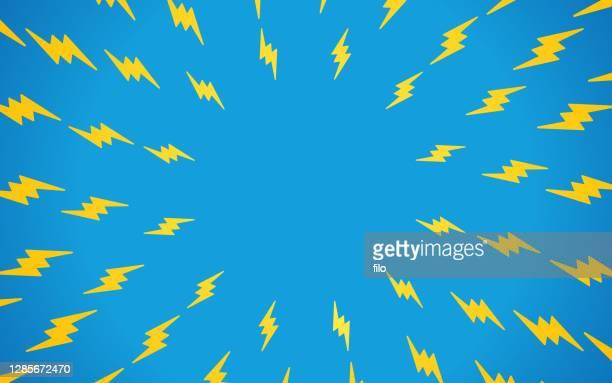lightning bolt hintergrundmuster - begeisterung stock-grafiken, -clipart, -cartoons und -symbole
