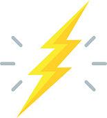 Lightning Bolt Icon - Illustration