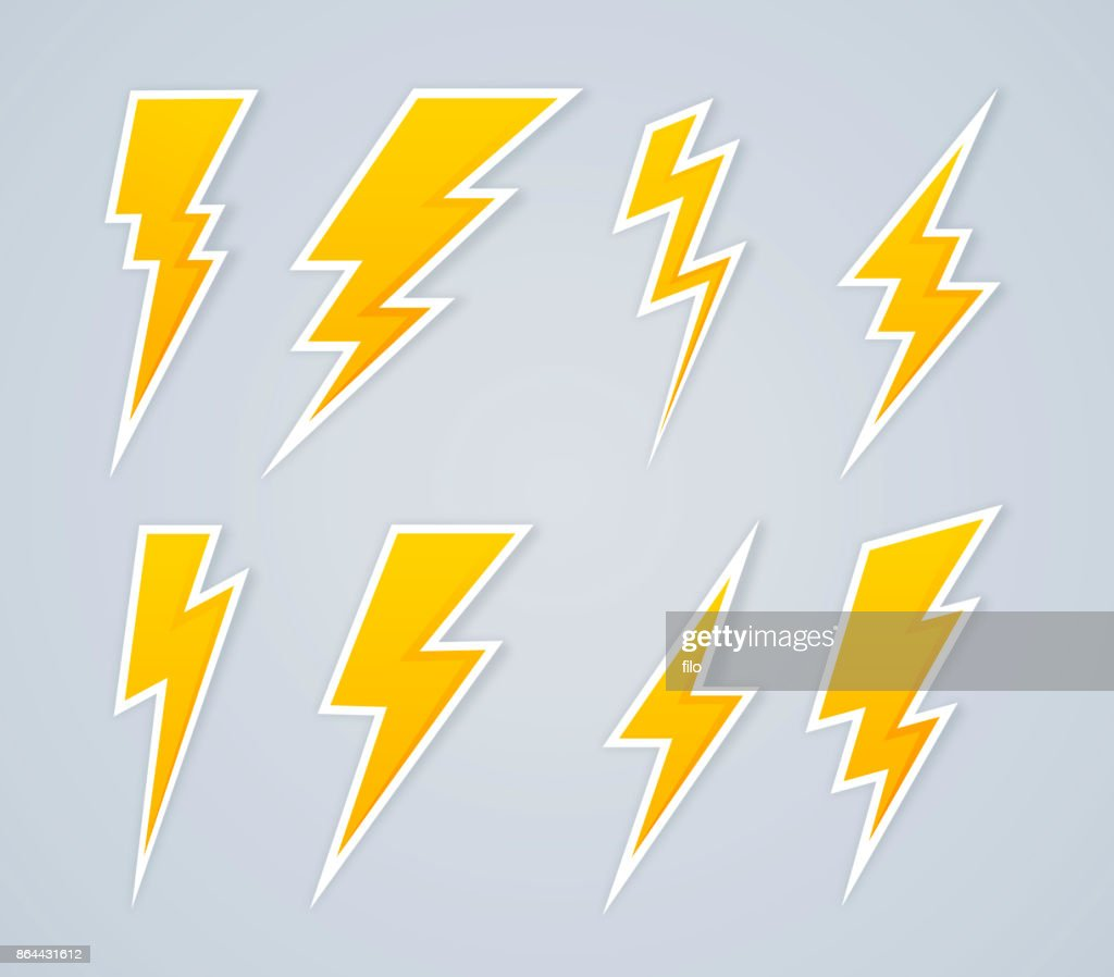 Lightning Bolt Symbols and Icons