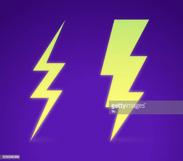 lightning bolt - igniting stock illustrations