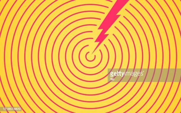 ilustraciones, imágenes clip art, dibujos animados e iconos de stock de lightning bolt zap background - objetivo militar