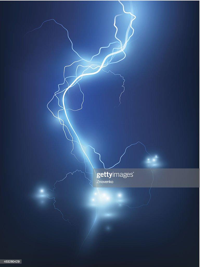 Lightning flash background.