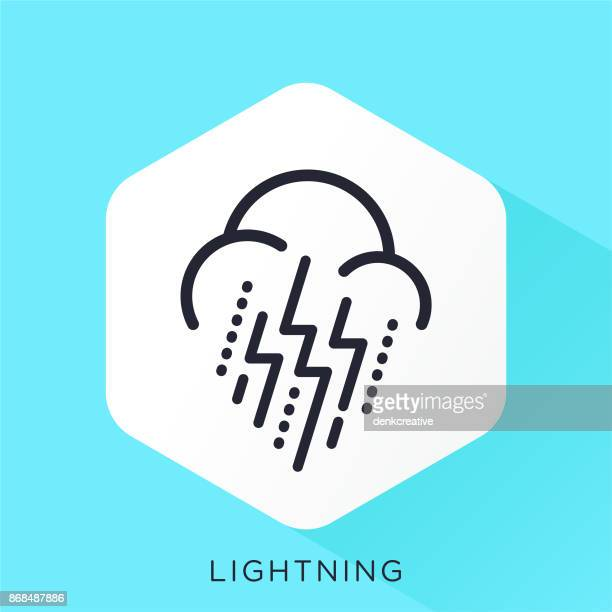 lightning icon - crossed out stock illustrations