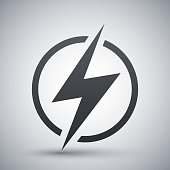 Lightning icon, vector
