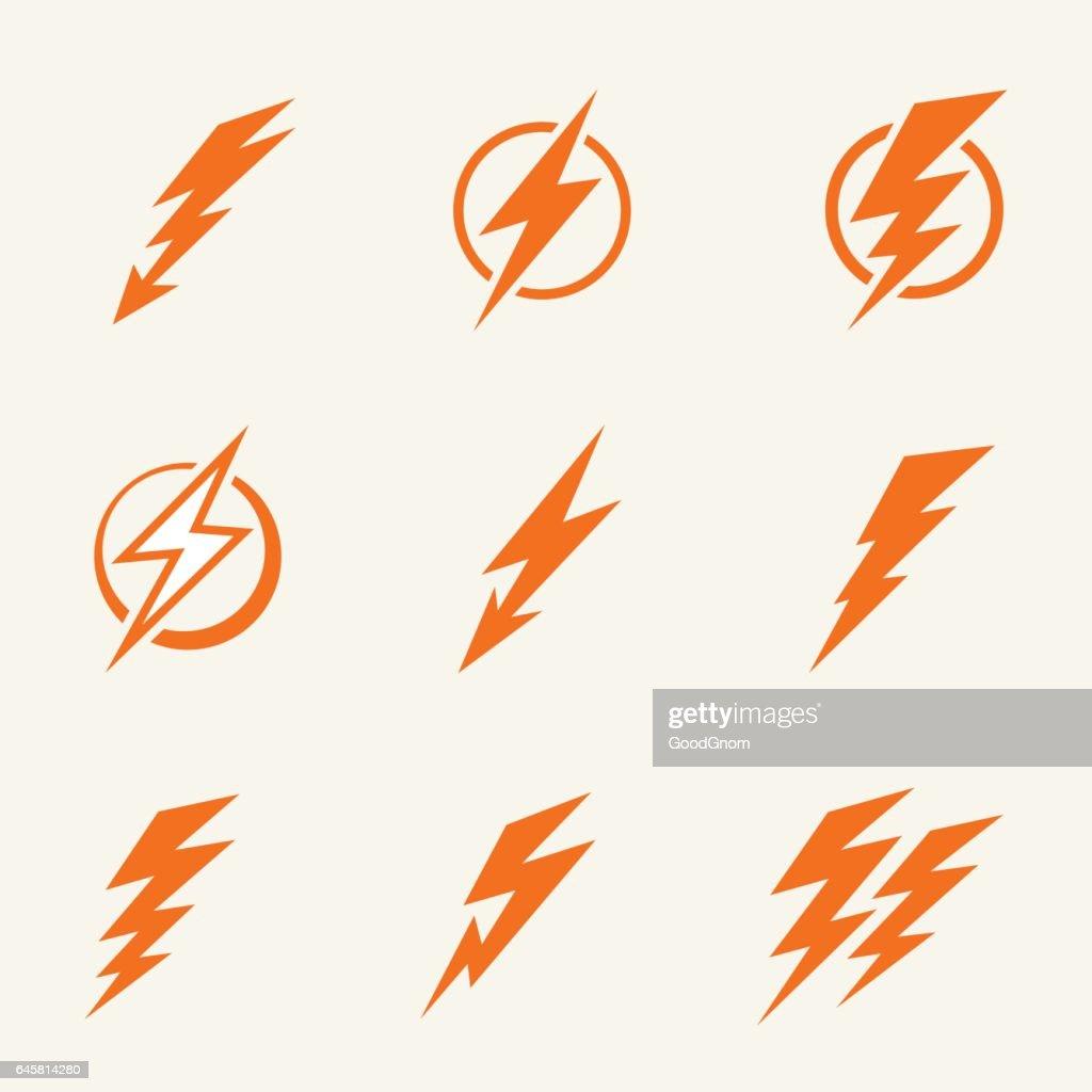 Lightning Icons stock illustration - Getty Images