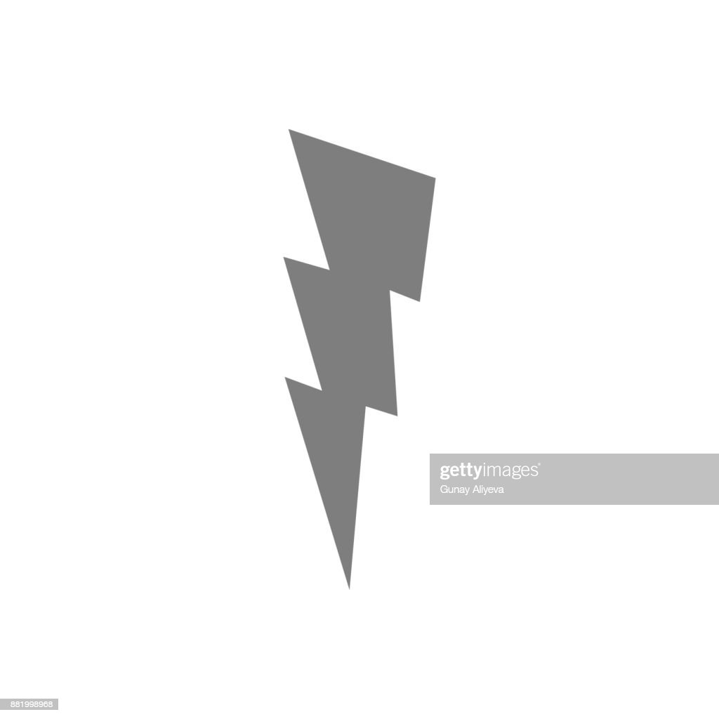 Lightning Sign Icon Web Element Premium Quality Graphic Design Signs