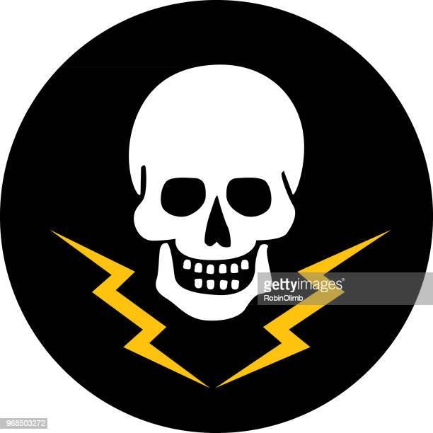 ilustrações de stock, clip art, desenhos animados e ícones de lightning skull - caveira