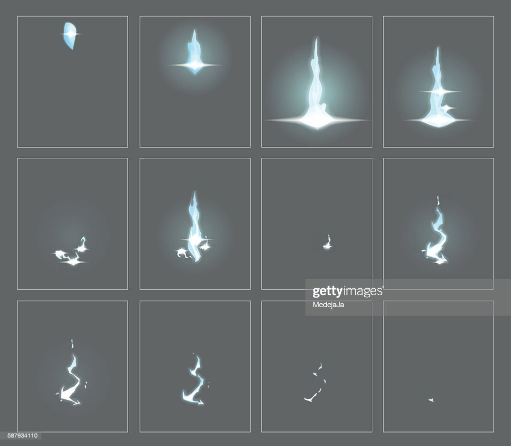 Lightning special effect animation frames