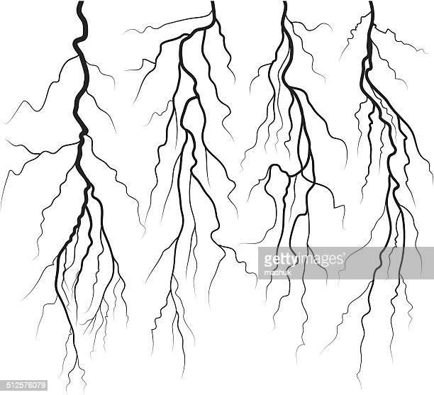 lightning - lightning stock illustrations