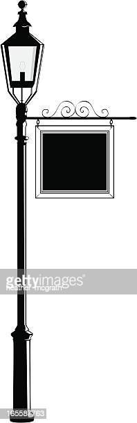 lightpost - ガス燈点のイラスト素材/クリップアート素材/マンガ素材/アイコン素材