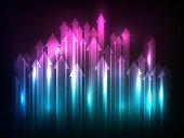 lights arrows upward