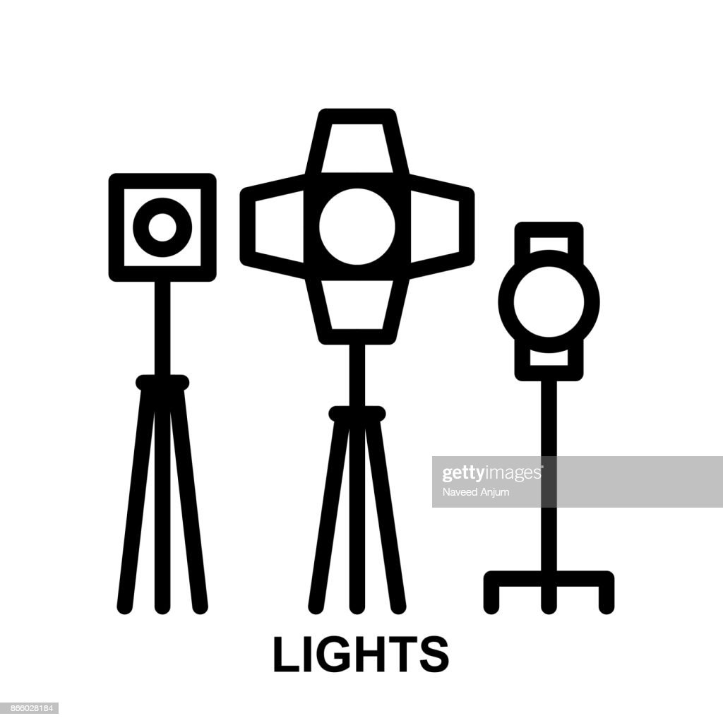lights Thin Line Vector Icon