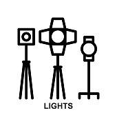 lights Thin Line Vector Icon
