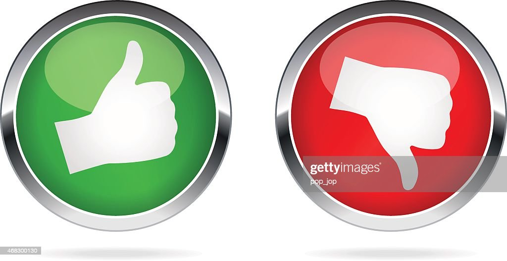 Like and Dislike buttons - illustration : stock illustration