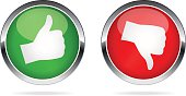 Like and Dislike buttons - illustration