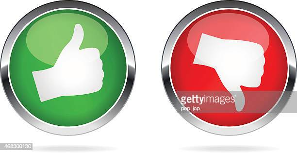 like and dislike buttons - illustration - thumbs down stock illustrations