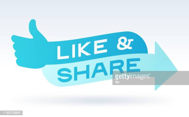 like and share social media engagement message - like button stock illustrations