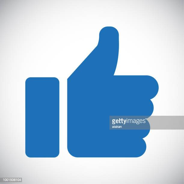 like button icon - thumb stock illustrations