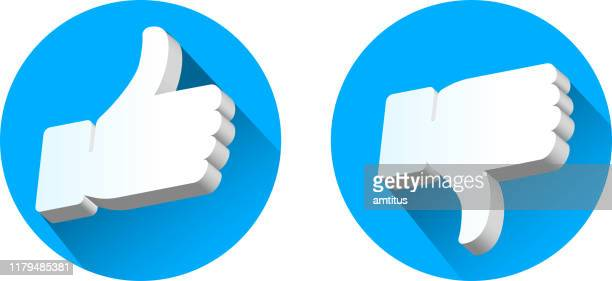like dislike 3d - like button stock illustrations