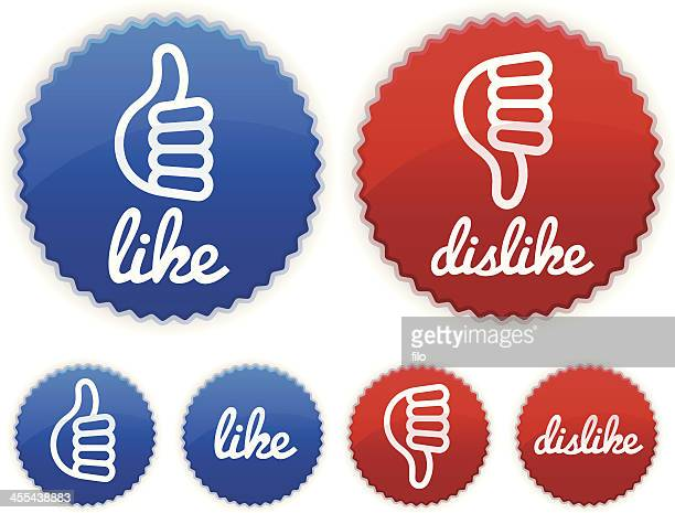 Like Dislike Badges