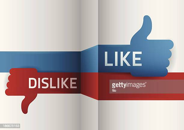 like dislike - thumbs down stock illustrations