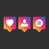Like follower comment icons.