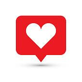Like, heart icon. One of set web icons