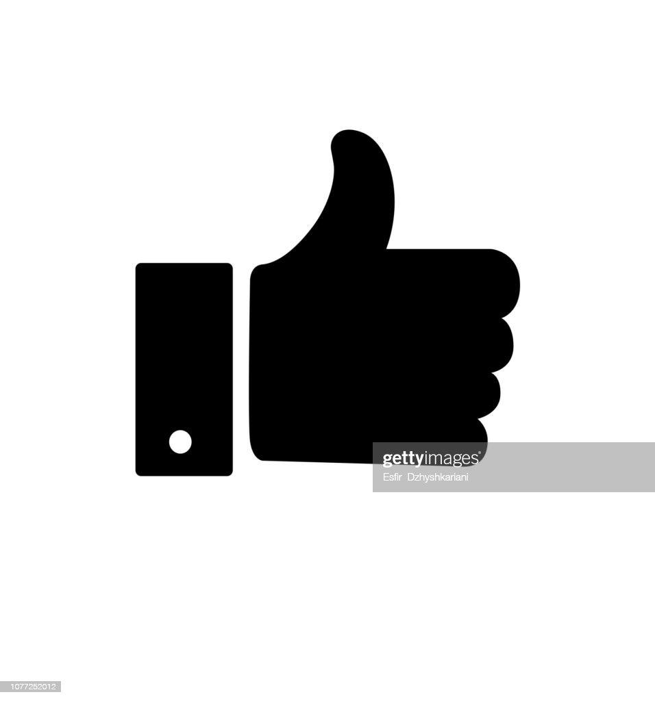Like icon vector illustration  isolated on white