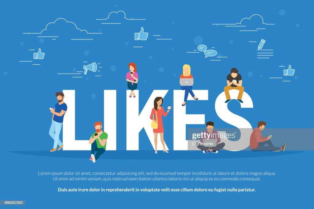 I like it concept illustration
