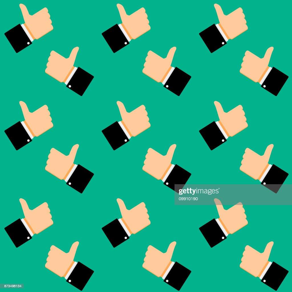 Like symbol seamless pattern